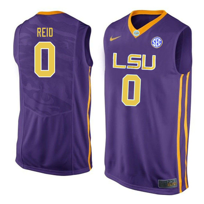 Men #0 Naz Reid LSU Tigers College Basketball Jerseys Sale-Purple
