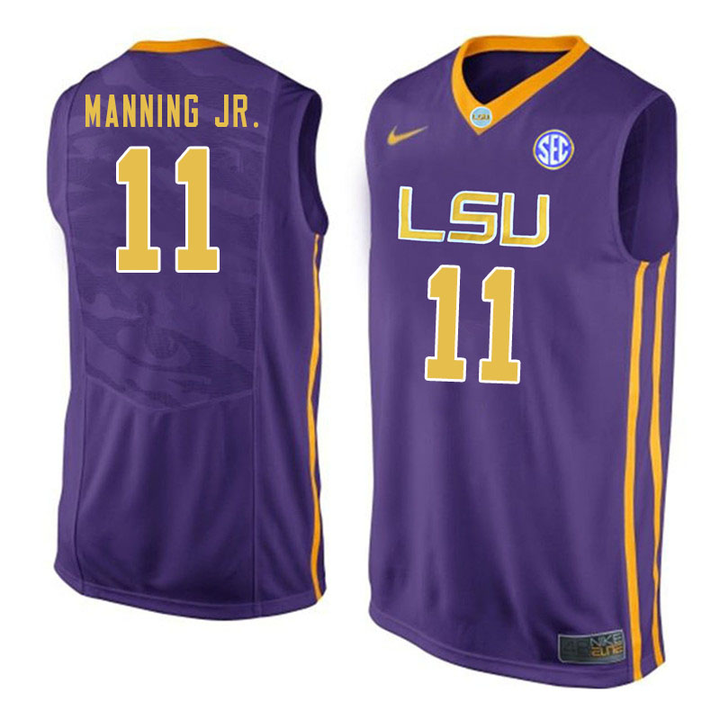 Men #11 Charles Manning Jr. LSU Tigers College Basketball Jersyes Sale-Purple