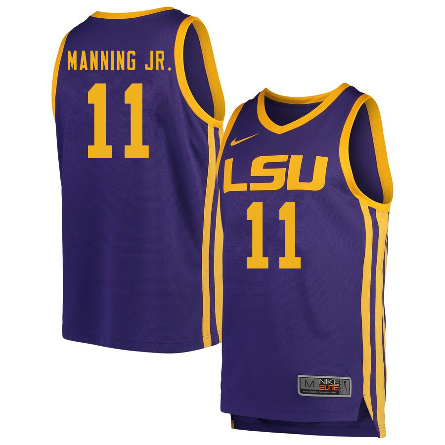 Men #11 Charles Manning Jr. LSU Tigers College Basketball Jersyes Sale-Retro
