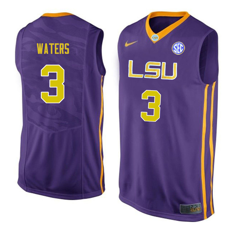 Men #3 Tremont Waters LSU Tigers College Basketball Jerseys Sale-Purple